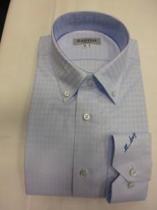 セミワイドボタンダウンシャツ