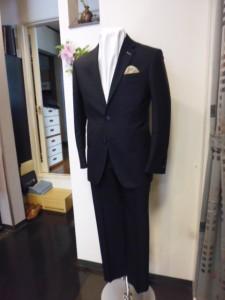 超スリムシルエット2釦スーツ