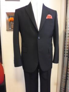 濃紺シャドーストライプスーツ