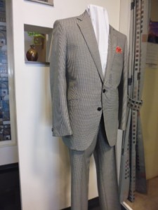 千鳥格子柄スーツ